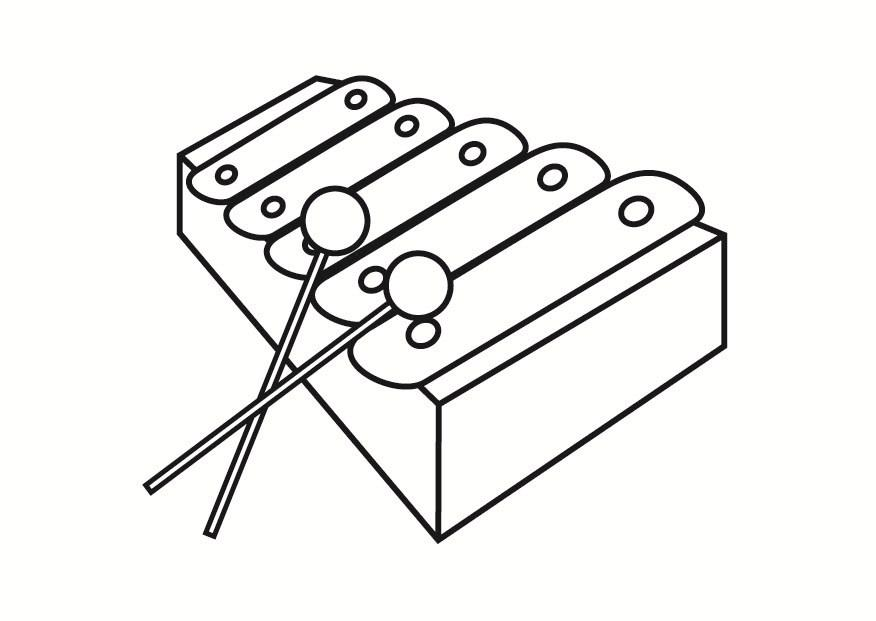 Coloriage xylophone - img 23334
