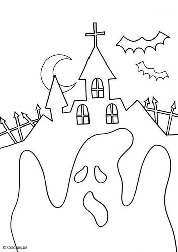 Desenhos Para Colorir Halloween Castelos E Fantasmas
