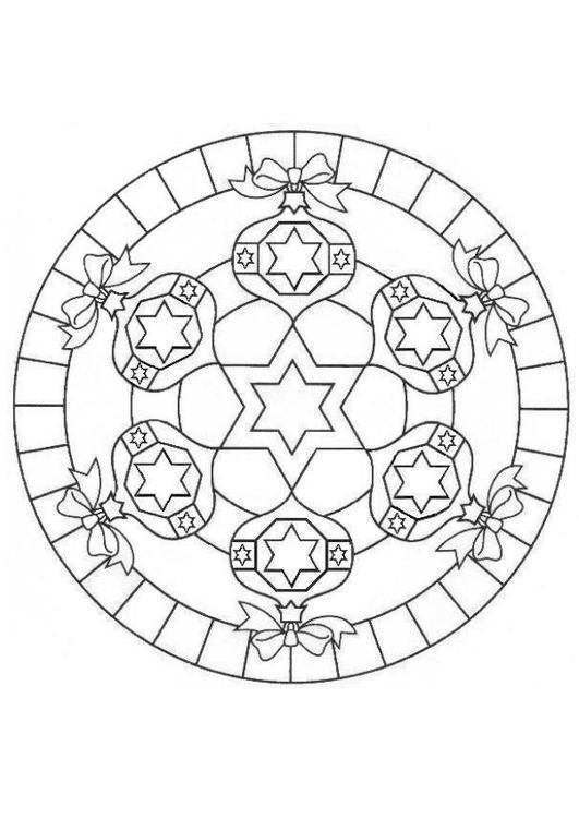 Kerst Mandala Printen En Kleuren Hobby Blogo Nl