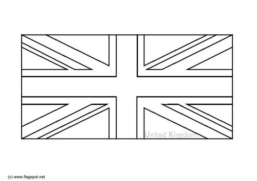drapeau anglais noir et blanc