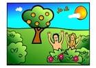 Image Adam et Eve - heureux