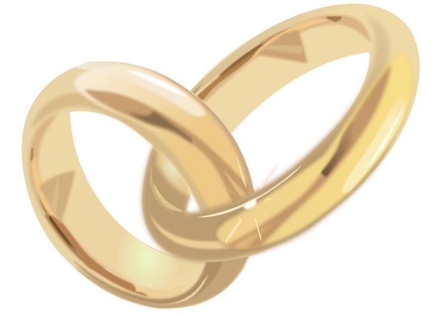 Image anneaux de mariage - Dessin 28309