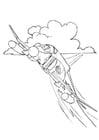 Coloriage avion à réaction