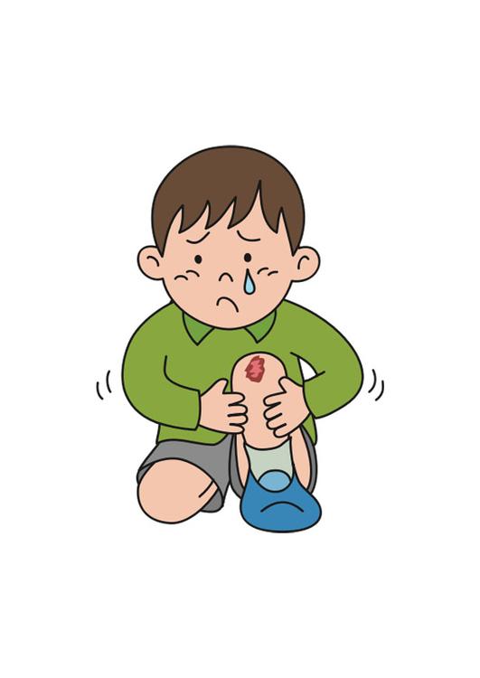 Image blessure au genou dessin 30239 - Dessin du genou ...
