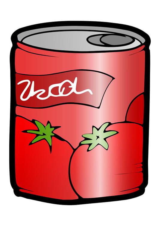 image bo u00eete de conserve tomates dessin 29940 Free Manger Silhouette free manger clipart images