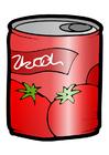 Image boîte de conserve - tomates