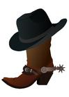 Image botte avec chapeau