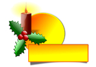 Image bougie de Noël