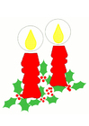Image bougies de Noël
