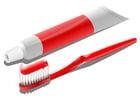 Image brosse à dents et tube de dentifrice
