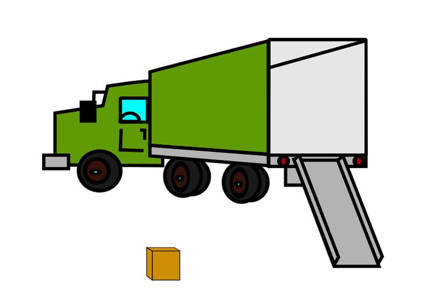 image camion de d m nagement vide dessin 29171. Black Bedroom Furniture Sets. Home Design Ideas