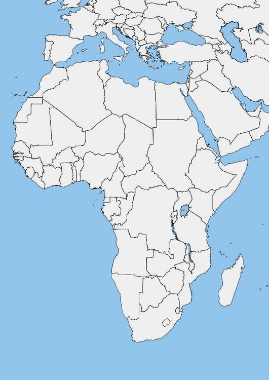 carte europe afrique