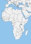Image carte d'Afrique - vièrge
