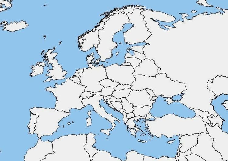 Image carte de l'Europe   vièrge   Dessin 7464