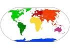 Image carte du monde - les continents