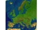 Image carte en relief d'Europe