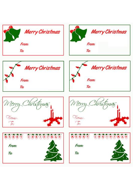 Image cartes pour cadeaux de Noël   Images Gratuites à Imprimer