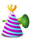 Image chapeau de fête et cornet