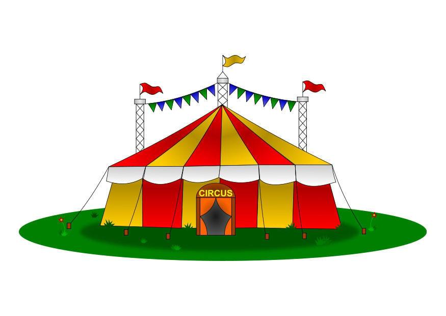 Image chapiteau dessin 25722 - Dessin d un chapiteau de cirque ...