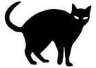 Coloriage chat noir