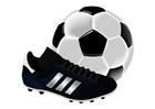 Image chaussure de football et une balle