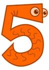 Image chiffre - cinq