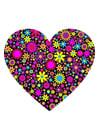 Image Coeur avec des fleurs