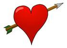 Image coeur avec flèche