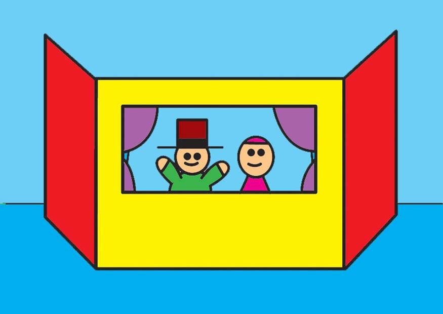 Image coin du th tre de marionnettes dessin 26810 - Dessin de theatre ...