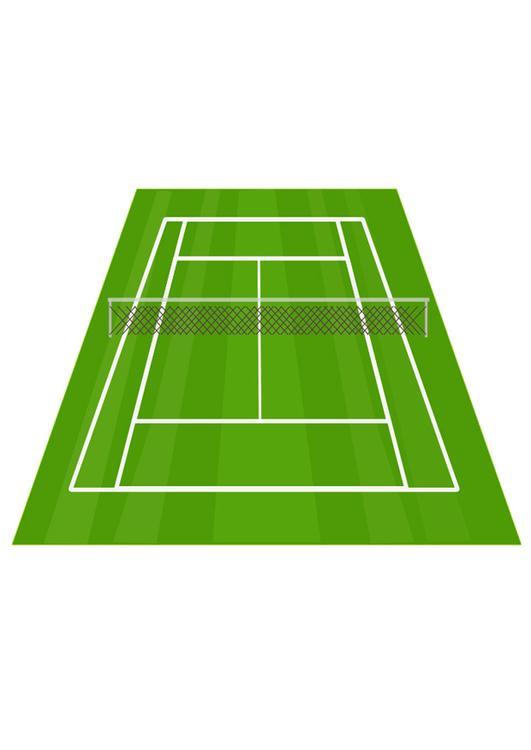 Image court de tennis dessin 28274 for Prix d un court de tennis