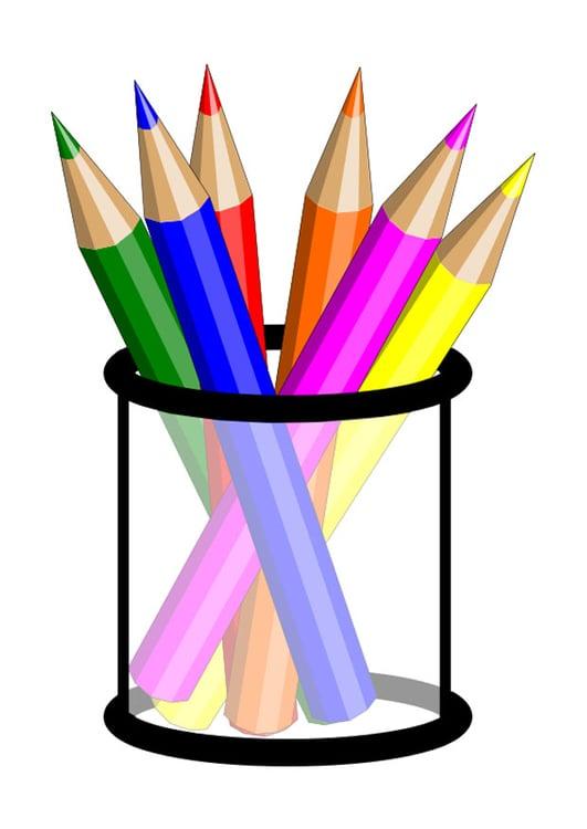 image crayons de couleur i
