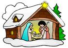 Image crèche de Noël