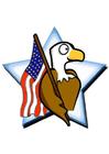 Image drapeau des États-Unis avec aigle