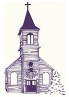 Image église en hiver