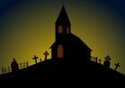 Image église Halloween