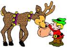 Image elfe avec renne
