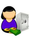 Image employé de banque