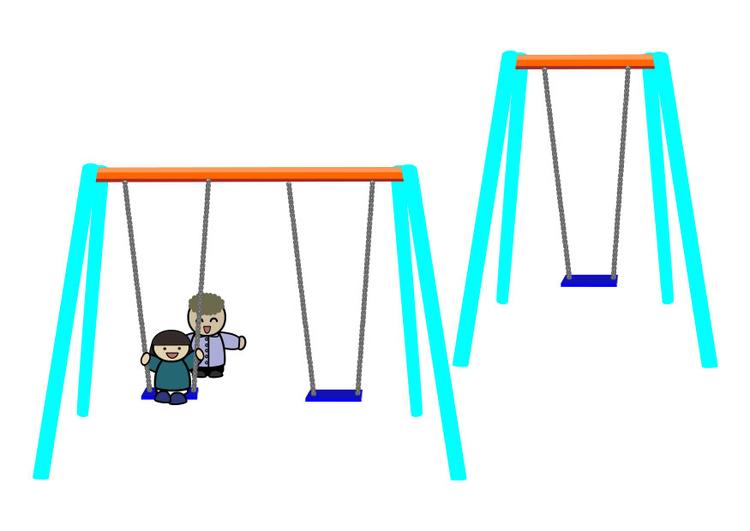 Dessin Balançoire image enfants sur une balançoire - dessin 28538