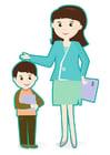 Image enseignant et élève