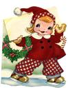 Image fille en costume de Noël