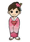 Image fille en kimono