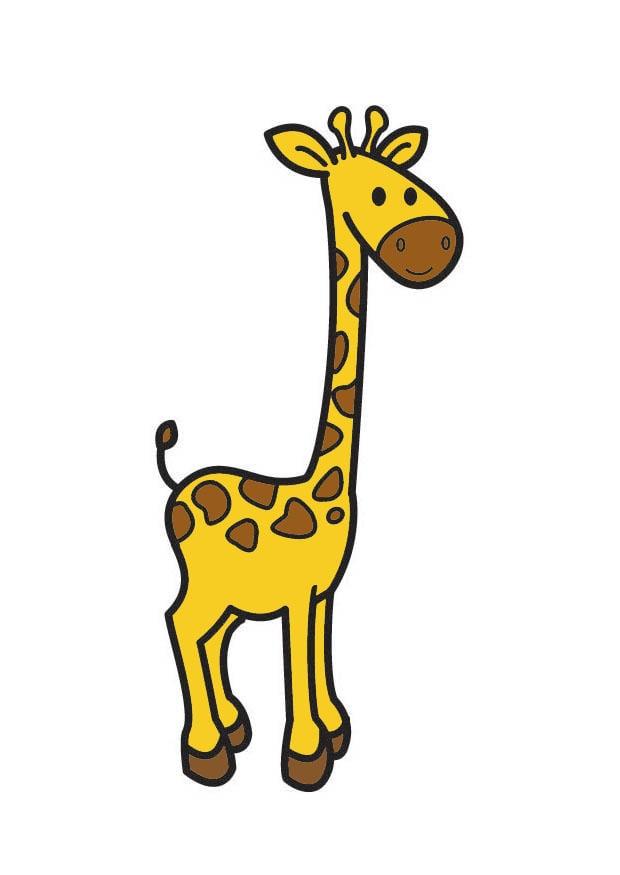 Image girafe dessin 21349 - Dessin de girafe en couleur ...