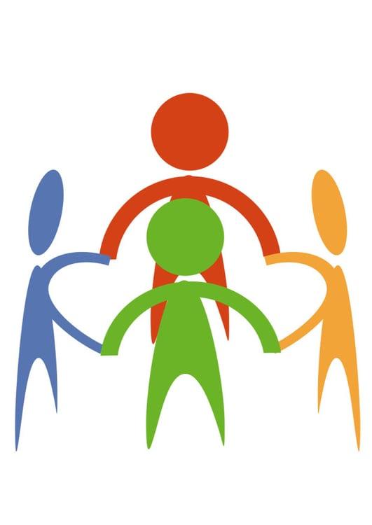 Image groupe dessin 26384 - Dessin groupe d enfants ...