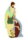 Image Joseph, Marie et Jésus