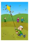 Image jouer au cerf-volant