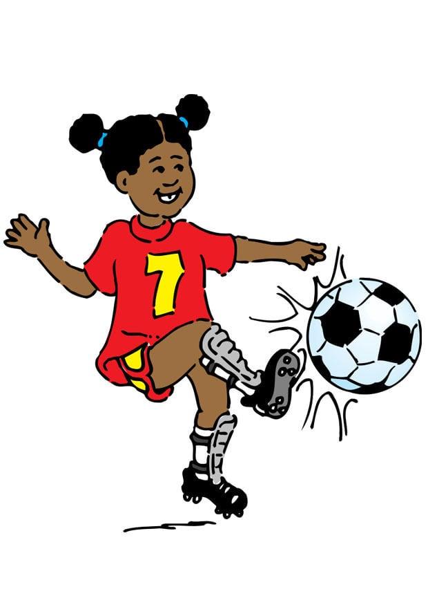 Image jouer au football dessin 20967 - Fille joue au foot ...
