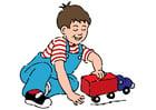 Image jouer avec une voiture
