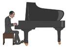 Image jouer du piano
