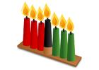 Image Kwanzaa - bougies