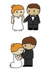 Image la mariée et le marié